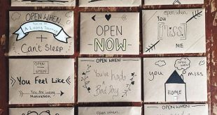 Open when letters for a friend travelling. I have posted a blog post with ideas ...