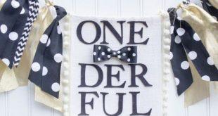 Onederful Birthday, Highchair Banner, Mr. Wonderful, Black and Gold, Little Man, Bowtie, Onederland, Garland, Prop, Wild One, New Years Eve