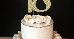 QUALSIASI numero Gold Glitter 18th Birthday Cake Topper, decorazioni per torte compleanno numero