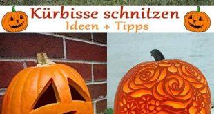 Anleitungen zum Kürbis schnitzen – Tolle DIY Ideen und Tipps