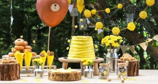 Baby Bear 1. Geburtstagsfeier auf Kara's Party Ideas | KarasPartyIdeas.com (...