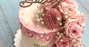 Blume Buttercremekuchen -  #blume #buttercremekuchen