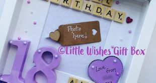 Girls Unicorn theme Birthday personalised box frame / photo frame, happy birthday scrabble, wooden numbers hand painted, unique