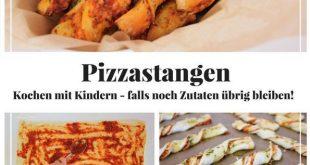 Kochen mit Kindern - Pizzastangen