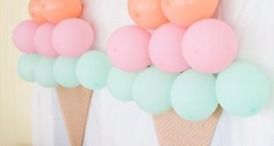 Legende Ice Cream Themed Birthday Party: DIY Decor Ideas