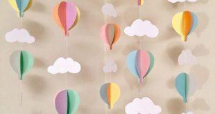 Oh, die Orte, an die Sie gehen werden Dekor – Luftballon Baby Shower Dekorationen – Pastell Heißluftballon Dekorationen – Heißluftballon Geburtstag Dekor